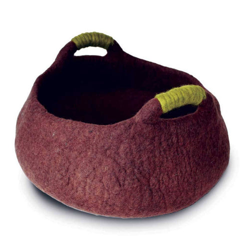 Dharma Dog Karma Cat Handle Basket Brown For Cats & Small Dogs | UnitedPetWorld.Com