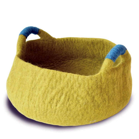 Dharma Dog Karma Cat Handle Basket Green For Cats & Small Dogs | UnitedPetWorld.Com