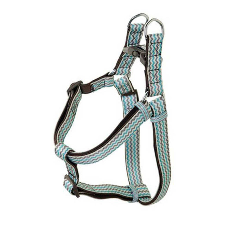 Doog Neoprene Dog Harness (Benji - Brown And Blue Zigzag) | Unitedpetworld.Com
