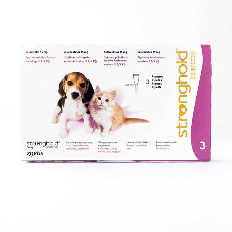 Stronghold For Cats & Dogs under 2.5kg (5lbs) Pink, 3 Pack | Unitedpetworld.Com