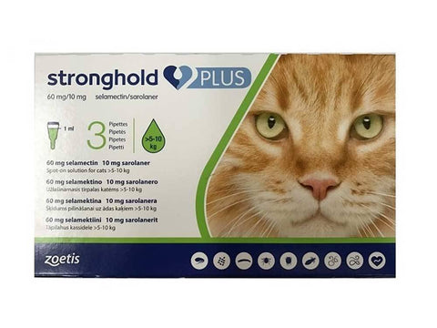 Stronghold Plus 60 mg/10 mg Large Cats >5–10 kg (11-22 lbs) | UnitedPetWorld