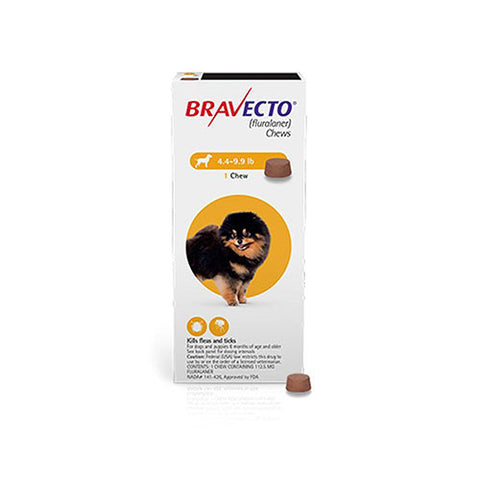 Bravecto For Very Small Dogs 4.4-9.9lbs (2-4.5kg)