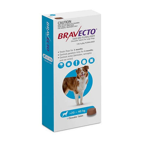 Bravecto Chewable for Large Dogs 44-88lbs (20-40kg) | UnitedPetWorld