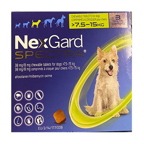 NexGard Spectra Medium Dogs 16-33 lbs (7.5-15 kg) | UnitedPetWorld