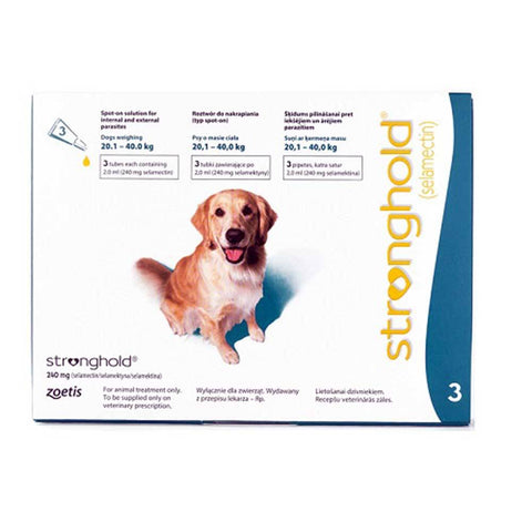 Stronghold (Teal) For Dogs 44-88 lbs (20.1-40 kg), 3 Pack | UnitedPetWorld.Com