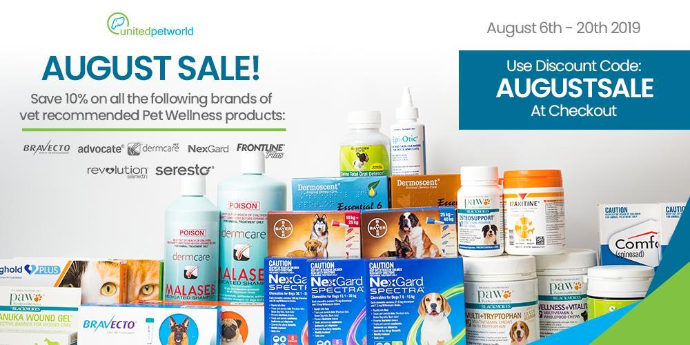 UnitedPetWorld August Sale Banner