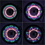 Colorful Bicycle Lights LED 32-pattern Waterproof For Bikes