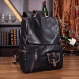 Vintage Backpack, Travel Satchel Leather Laptop Bag