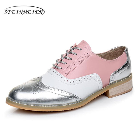 STEINMEIER-Colorful Leather Formal Oxford - Dealswelove