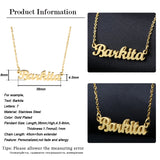 Custom Name Necklace Gold / Silver Color Stainless Steel Personalized Pendant - Dealswelove