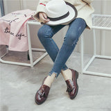 KEUEK-Oxfords Leather Pointed Toe - Dealswelove