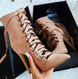 GLADIATOR - High Heels Suede - Dealswelove