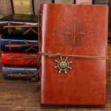 Vintage Pirate Anchor Leather Notebook or Diary Journal Refillable - Dealswelove