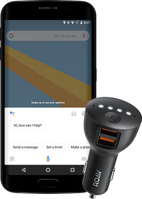 Roav Bolt, 2-Port Car Charger Optimized for the Google Assistant