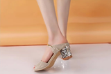 Womens Lovely Metal Ankle Heels