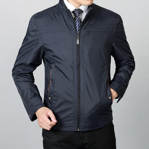 Mens Casual Fitted Thin Jacket