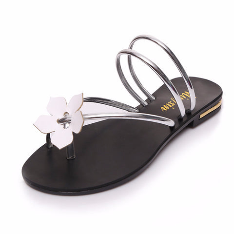Lovely Flower Strap Casual Sandals