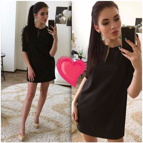 Stylish Casual Mid Sleeve Mini Dress