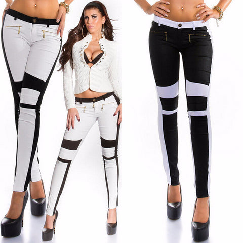 Trendy Stylish Patchwork Slim Pants