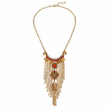 Retro Tassel Womens Necklace