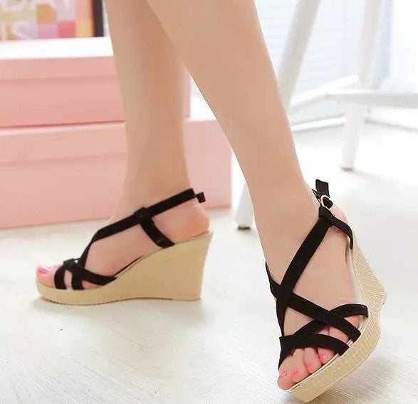 e6ca1de4fec4 Trendy Roman Wedge Heel Sandals – Womens Fashion Factory