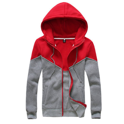 Mens Slim Long Sleeve Sports Hoodie