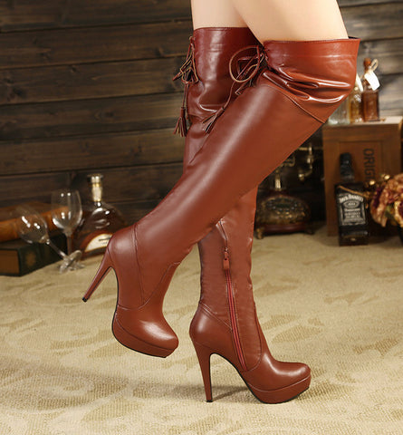 Trendy Stylish Knee High Riding Heel Boots