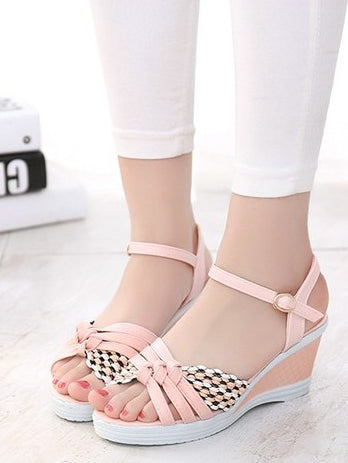 3b033672fac2 Trendy Stylish Ankle Summer Wedges – Womens Fashion Factory
