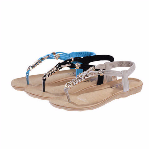Trendy Stylish T-Strap Ankle Summer Beach Sandals