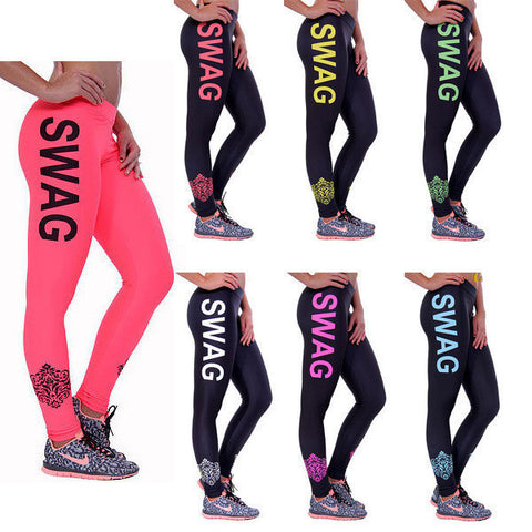 Womens Trendy SWAG Print Fit Leggings