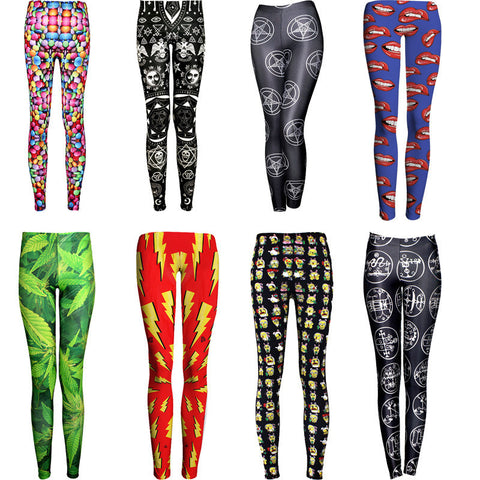 Womens Stylish Design Hip Slim Leggings