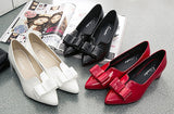 Womens Lovely Bow Office Heels