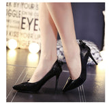 Womens Cute Back Ribbon Heels