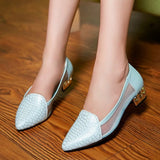 Womens Exotic Fancy Low Heels