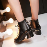 Womens Hip Urban Stud Heeled Boots