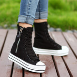 Womens Classic High-Top Side Zip Sneakers