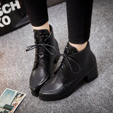 Womens Popular Edgy Heeled Boots