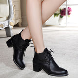 Womens Beautiful Laced Heel Boots