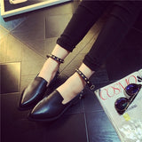 Womens Edgy Ankle Strap Casual Heels