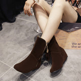 Womens Stylish Edgy Tassle Zip Boots