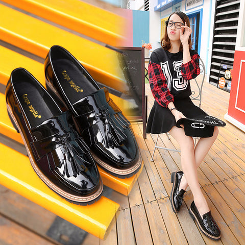 Classic Casual Tassel Leather Casual Shoes