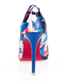 Womens Trendy Floral Pointy High Heels