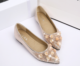 Womens Beautiful Floral Jewel Flats