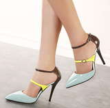 Womens Trendy Stylish Double Strap High Heels