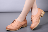 Womens Classic Brogue Style Casual Boots