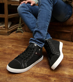 Mens Denim High-Top Casual Sneakers