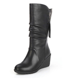 Womens Urban Edgy Wedge Boots