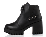 Womens Urban Rugged Casual City Boots