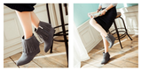 Womens Stylish Tassel Wedge Boots