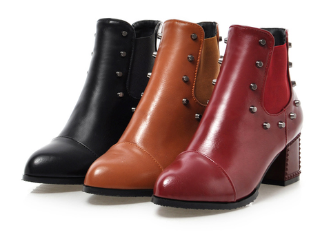 Womens Urban Trendy Studded Boots